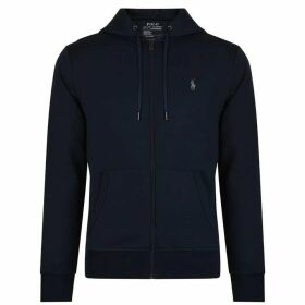 POLO RALPH LAUREN Zipped Logo Hooded Sweatshirt