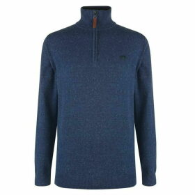 Raging Bull Raging Mens quarter Zip Fleeced Sweater
