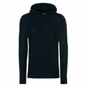 Firetrap Blackseal Cable Knit Hoodie