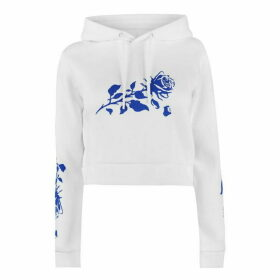 Swallows and Daggers Rose Fall Crop Hoodie