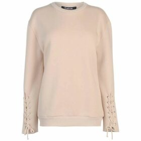 Firetrap Blackseal Lace Sleeve Sweatshirt