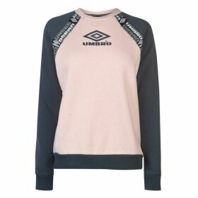 Umbro Colour Block Raglan Sweatshirt Ladies