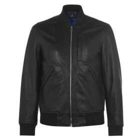 PS by Paul Smith Paul Leather Bomber Jacket Mens
