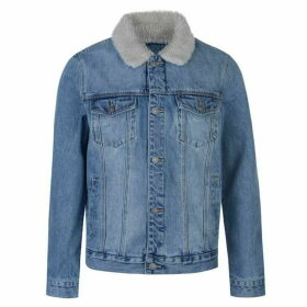 Abrand Sherpa Denim Jacket