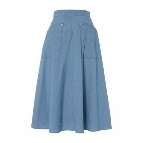 Paul Smith PS Chambray Skirt Ld92