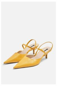 Womens Jammy Leather Mustard Point Strappy Shoes - Mustard, Mustard