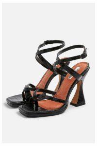 Womens Rock Sculpt Heel Sandals - Black, Black