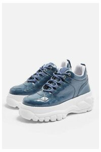 Womens Cairo Blue Chunky Trainers - Blue, Blue