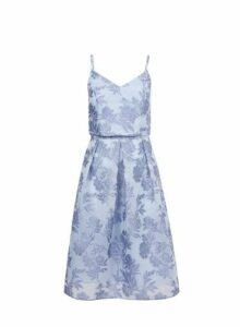 Womens **Luxe Blue Organza Prom Dress, Blue
