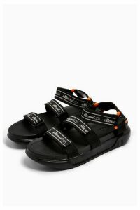 Womens Tape Sandals By Ellesse - Black, Black