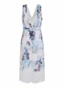 Womens **Little Mistress Multi Colour Floral Print Midi Dress, Multi Colour