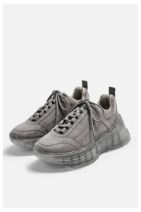 Womens Celina Transparent Trainers - Grey, Grey