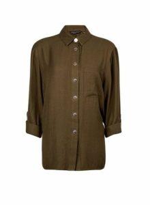 Womens Khaki Shirt, Khaki