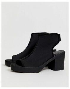 ASOS DESIGN Shona chunky shoe boot in black neoprene