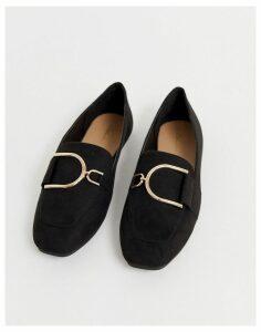 Park Lane flat ring loafer-Black