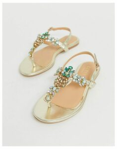 Lipsy pineapple jewel flat sandal