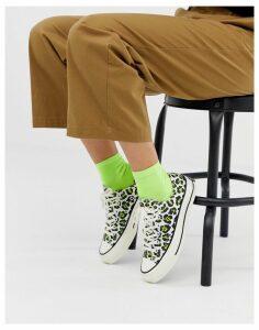 Converse chuck '70 ox low leopard trainers-Beige