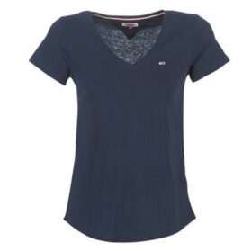 Tommy Jeans  TJW SOFT JERSEY V-NECK TEE  women's T shirt in Blue
