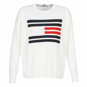 Tommy Hilfiger  TH ESSENTIAL FLAG SWEATER  women's Sweater in White