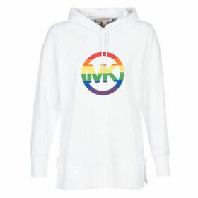 MICHAEL Michael Kors  LOGO RNBOW ZIPPULLOVR  women's Sweatshirt in White