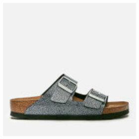 Birkenstock Women's Arizona Slim Fit Double Strap Sandals - Cosmic Sparkle Anthracite - UK 5.5 - Silver