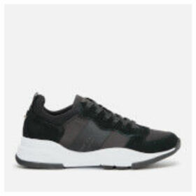 Ted Baker Women's Waverdi Suede/Satin Chunky Running Style Trainers - Black - UK 6 - Black