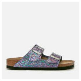Birkenstock Women's Arizona Slim Fit Suede Double Strap Sandals - Metallic Stones Violet