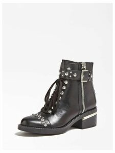 Guess Fiamma Real Leather Low Boots