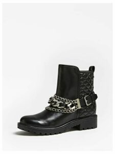 Guess Holana Real Leather Low Boots