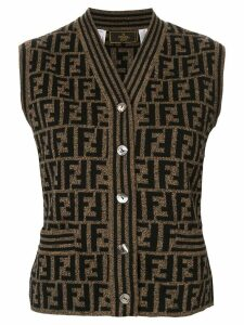 Fendi Pre-Owned knitted monogram vest - Brown