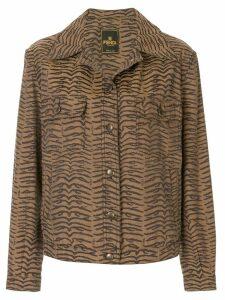 Fendi Pre-Owned zebra pattern long sleeve jacket - Brown