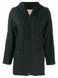 Hermès Pre-Owned diamond quilted parka coat - Black