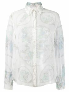 Hermès Pre-Owned lace organza shirt - White