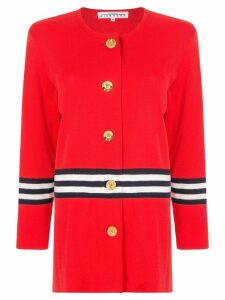 Givenchy Pre-Owned striped cardigan - Red