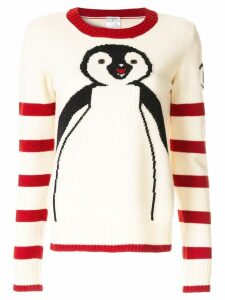 Chanel Pre-Owned long sleeve penguin knit sweater - White
