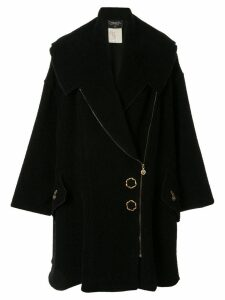 Chanel Pre-Owned long sleeve flare coat - Black