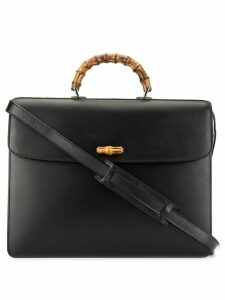 Gucci Pre-Owned Bamboo Line 2way business bag - Black