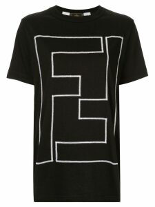 Fendi Pre-Owned embroidered FF logo T-shirt - Black