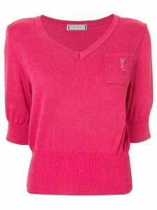 Yves Saint Laurent Pre-Owned short sleeve top - PINK