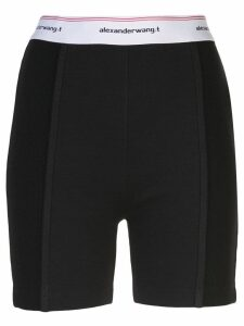 T By Alexander Wang wash + go logo bike shorts - Black