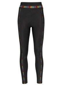 Adam Selman Sport embellished performance leggings - Black