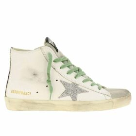 Golden Goose Sneakers Sneakers Francy Golden Goose In Leather With Glitter Star