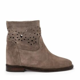 Via Roma 15 Dove Pierced Suede Ankle Boots