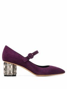 Salvatore Ferragamo mary jane shoes - PURPLE