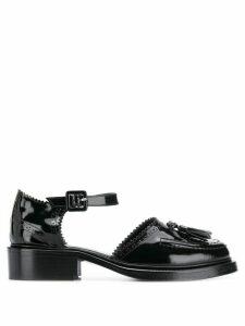 Nicole Saldaña patent loafers - Black
