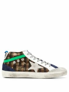 Golden Goose checked sneakers - Brown