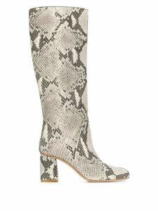 Red Valentino snakeskin-effect boots - Neutrals