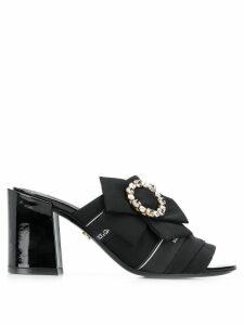 Dolce & Gabbana embellished buckle mules - Black