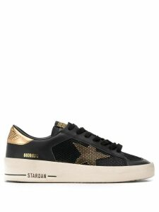 Golden Goose star lace-up sneakers - Black