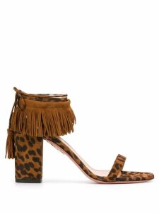 Aquazzura Gypset 85 sandals - Brown